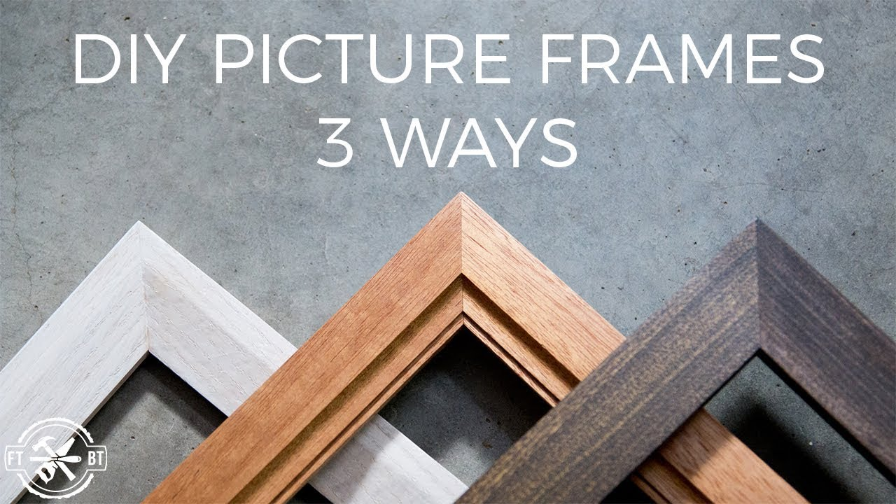d35a0bf78c How to Make a Picture Frame 3 Ways | DIY Woodworking - YouTube