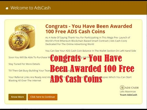 Advertise and earn cryptocurrency