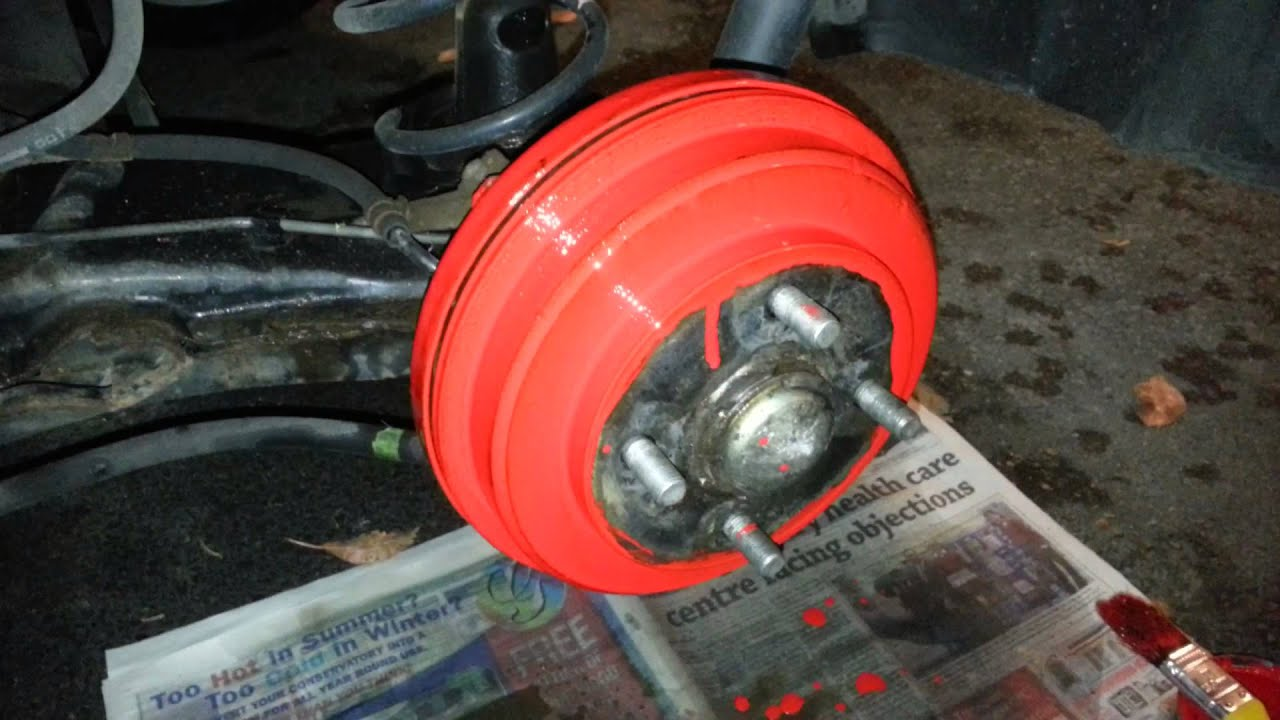 Paint Brake Drums Red