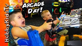 Arcade Day! Prizes + Tickets Game Fun with HobbyPig HobbyFrog by HobbyKidsTV
