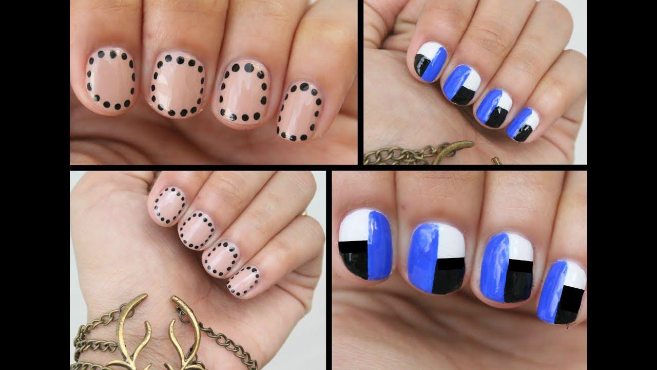 Nail art for dummies 3 easy nail art designs youtube prinsesfo Choice Image