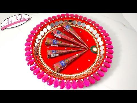 DIY Mehndi Thaal Decoration Idea For Wedding | Wedding Crafts | Artkala 170