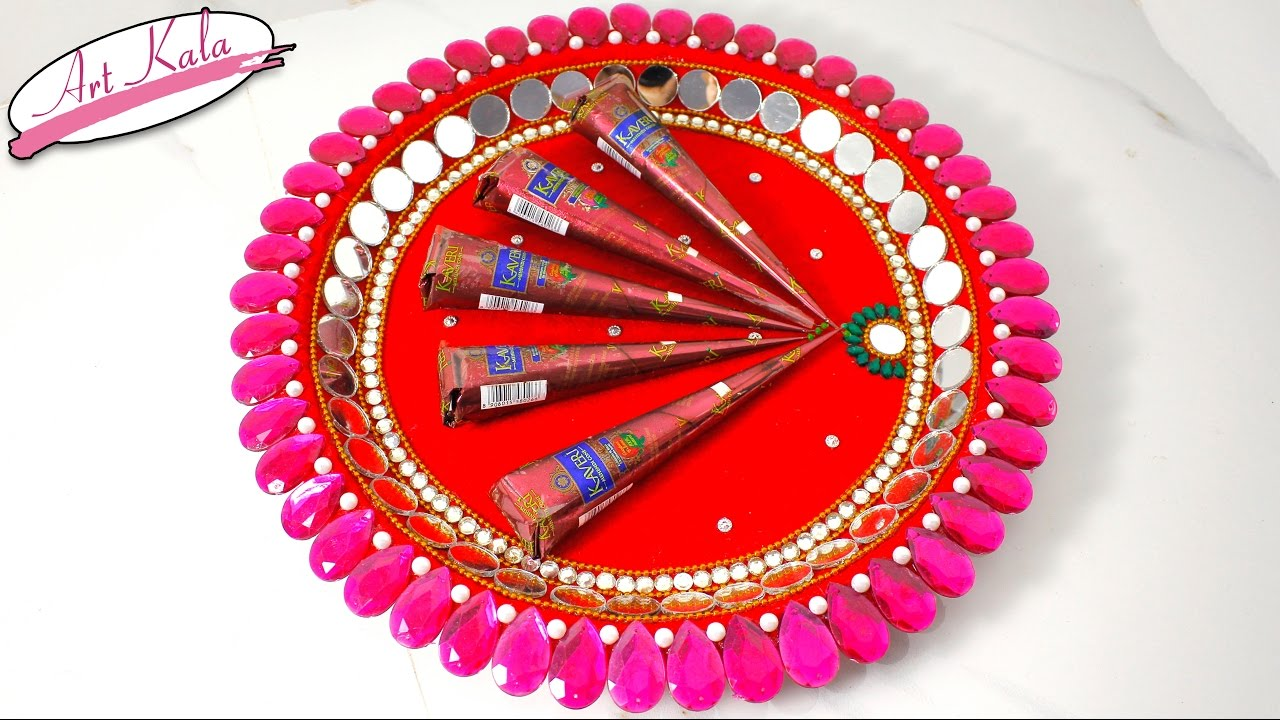 Diy mehndi thaal decoration idea for wedding wedding crafts diy mehndi thaal decoration idea for wedding wedding crafts artkala 170 junglespirit Choice Image