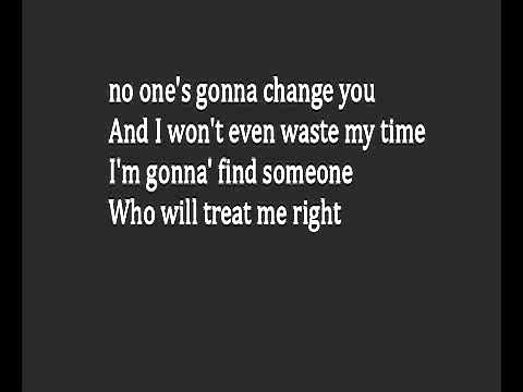 Reina No Ones Gonna Change You Lyrics Youtube