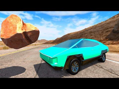 Самодельная Тесла Кибертрак против бездорожья - Самая прочная машина в игре  BeamNG.drive