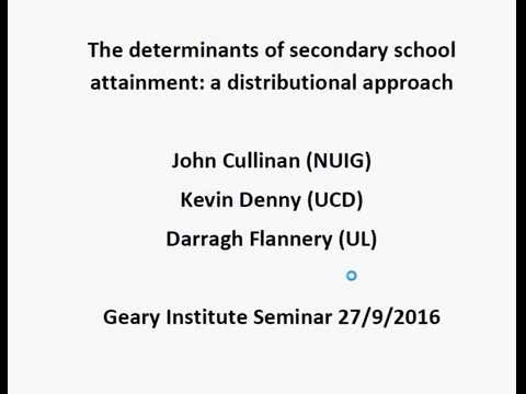 The determinants of secondary school attainment: a distributional approach