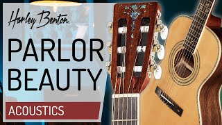 Harley Benton - CLF-200 WN - Parlor Size Acoustic Guitar - Presentation -