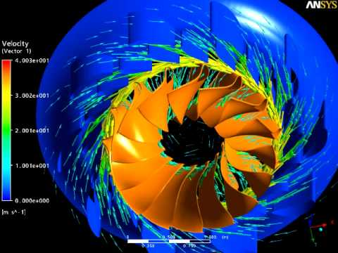 Hydraulic Turbine Simulation (2-way fluid-structure interactions with ANSYS)