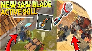 METAL CUTTER (STEEL WALL RAIDS) = NEW ACTIVE SKILL MOD for SAW BLADE?! - Last Day on Earth Survival