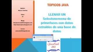 parte1  Llenar SelectOneMenu desde Base de Datos con JSF y Hibernate