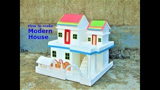 DIY || Thermocol House model - How To Make small Thermocol House - school project for kids