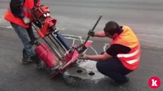 В Калининграде проверяют участок, где в дождь велись работы по укладке асфальта