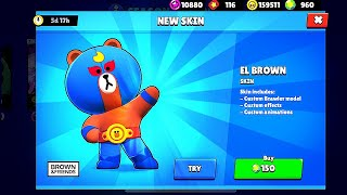 NEW SKIN - EL BROWN in BrawlStars!