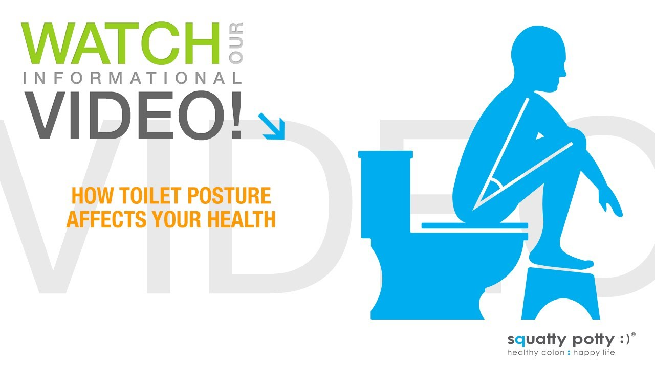 posture chair demo how to make a folding cover squatty potty toilet stool affects your health youtube