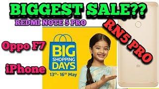 Biggest Sale Redmi Note 5 Pro ?| Oppo F7 | ये मौका मत गँवा देना |13-16may flipkart big shopping days