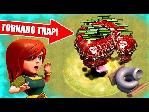 NEW TORNADO TRAP WRECKS EVERYTHING!! - Clash Of Clans