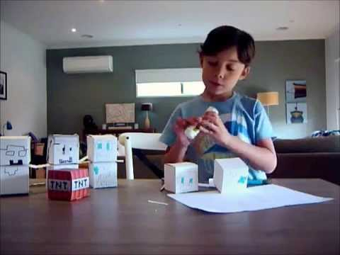 how to make paper minecraft characters
