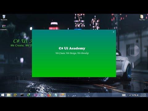 C# - Create Gradient Panel in Windows form App