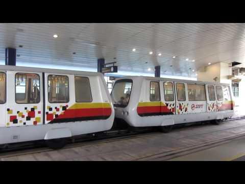 SMRT Bukit Panjang LRT Trains at BP6 Bukit Panjang on 11 August 2015