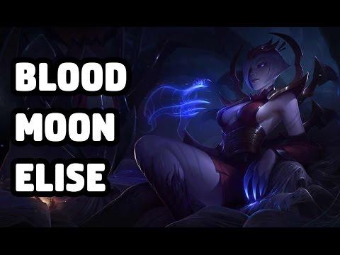 BLOOD MOON ELISE SKIN SPOTLIGHT - LEAGUE OF LEGENDS