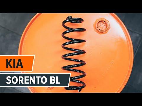 How to replace front springs KIA SORENTO BL TUTORIAL | AUTODOC