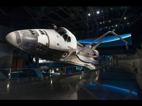 Space Shuttle Atlantis Exhibit with preshow, shuttle reveal and walk around
