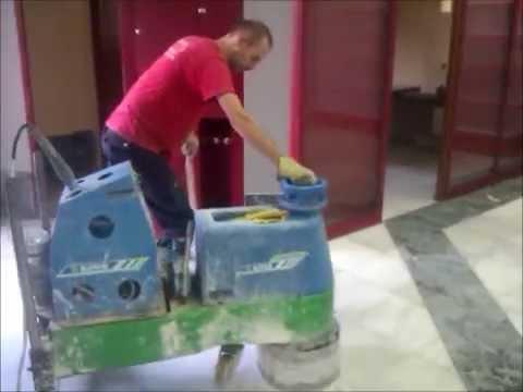 Como pulir y abrillantar suelos de terrazo o marmol con for Como limpiar una mesa de marmol manchada