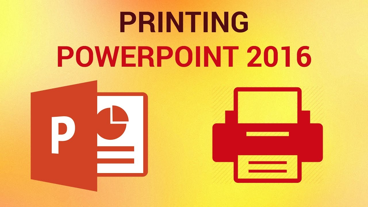 how to print powerpoint slides ms office 2016 youtube