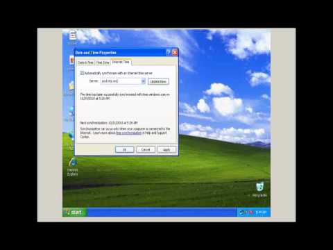 Windows XP Time Service 1
