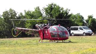 Décollage d une Alouette II