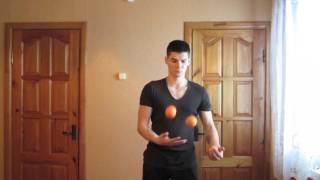Новые трюки в классическом жонглировании.Обучение жонглированию мячами.