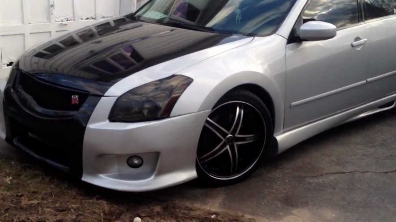 07 maxima new gtr coustom body kit duraflex - YouTube