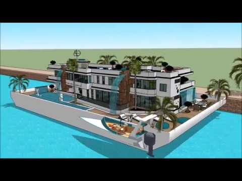 BOAT HOUSE AUCKLAND ON WATER BOAT SHOW 2018 UNITED STATES US HOUSEBOAT LIVING 007 Yacht Houseboat Fl