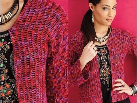 13 Cropped Jacket Vogue Knitting Crochet 2014 Youtube