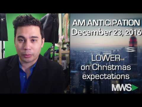Modern Wall Street AM Anticipation: December 23, 2016