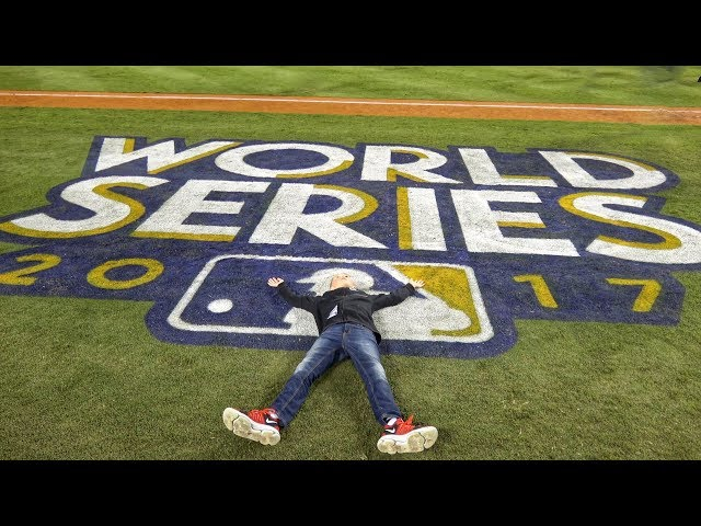 Running on the Field At 2017 World Series!