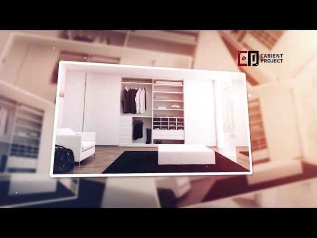 Proyecto de gabinete Armario abierto blanco y armario abierto