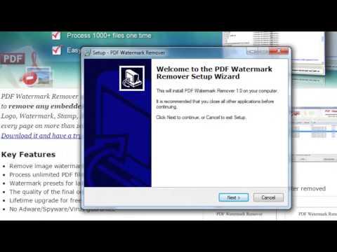 การใช้งาน Pdf Watermark Remover ลบลายน้ำใน PDF