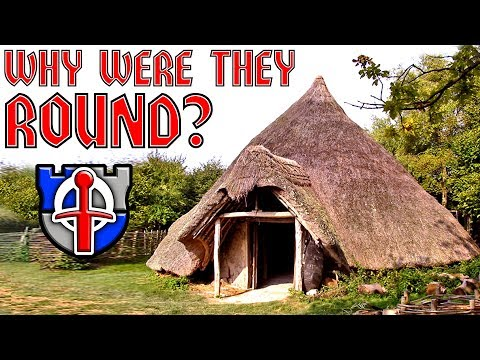 Why were early medieval buildings round?