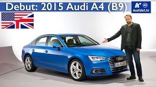 debut 2016 audi a4 b9 sedan avant worldpremire first impressions