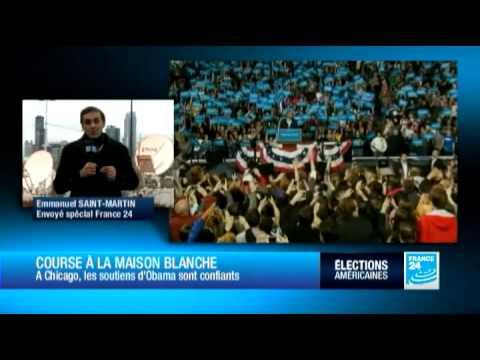 A Chicago, les soutiens d'Obama sont confiants