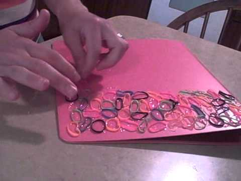 How to make rubberband decorated binders youtube for Fomic sheet decoration youtube