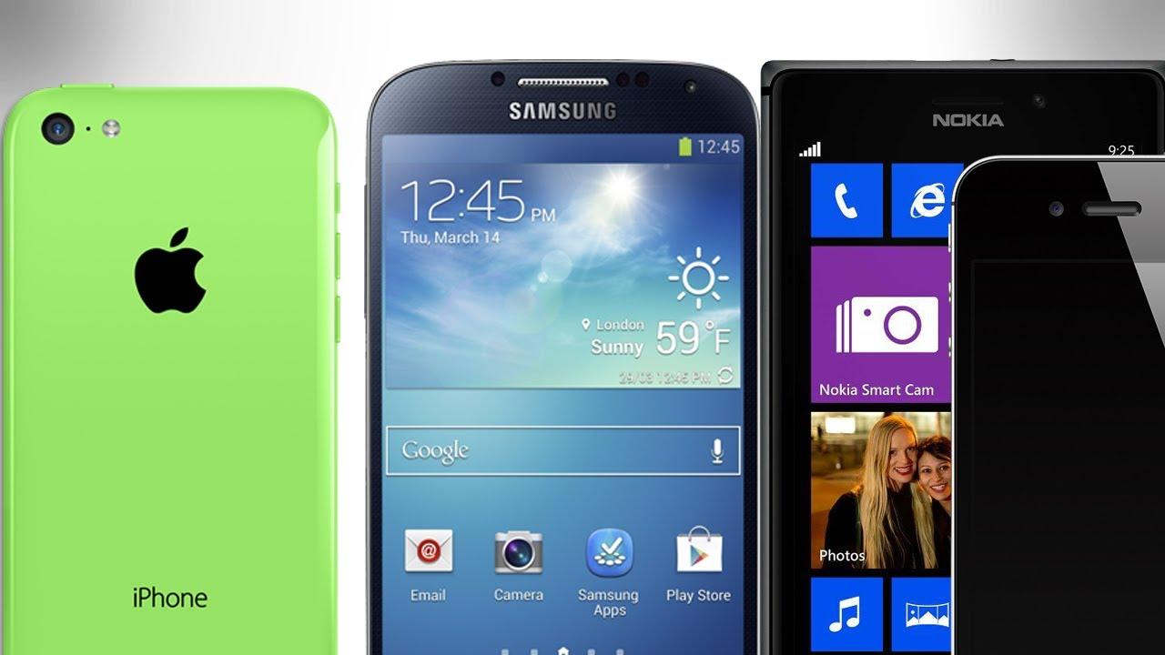iPhone 5C vs Samsung Galaxy S4 vs Lumia 925 vs iPhone 4S ...