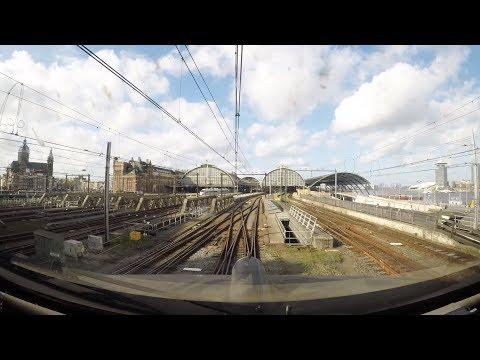 4K Cab Ride NL Amersfoort – Hilversum – Amsterdam CS / ICMm 4249 + 4088 / 21-10-2017