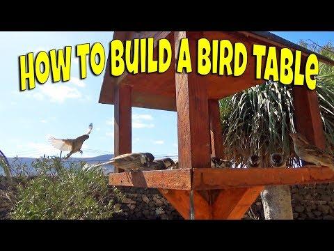 How to build a bird table | Wooden bird feeder