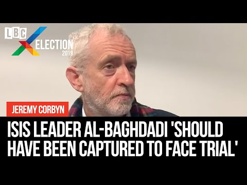 Jeremy Corbyn: Isis leader al-Baghdadi 'should have been captured to face trial'