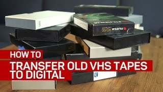 Convert your VHS tapes into digital files