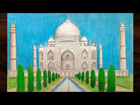 How to draw Taj Mahal