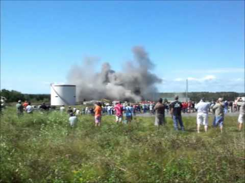 Loring Heat Plant Implosion that wasnt Aug 13 2011