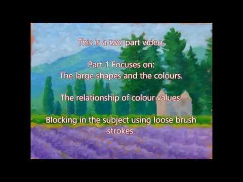 Impressionist Landscape Lesson in Oil